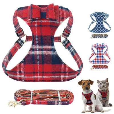Cotton Cozy Step in Dog Harness and Leash Cat Walking Harness for French Bulldog