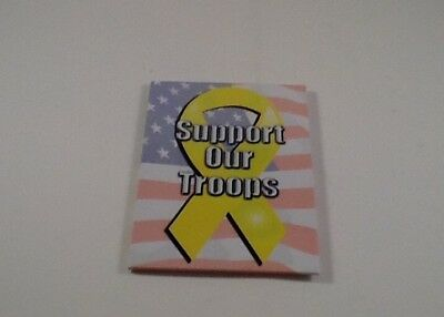 """Large Size USA FLAG SUPPORT OUR TROOPS Magnet 3.5"""" by 2.5"""" NEW American"""
