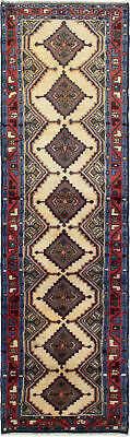 """Hand-knotted Persian Carpet 2'2"""" x 8'6"""" Koliai Traditional Wool Rug"""