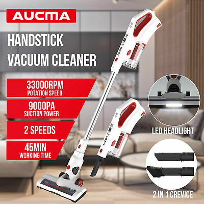 AUCMA Handstick Vacuum Cleaner Car Handheld Cordless Rechargeable Cleaner
