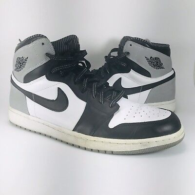 Nike Air Jordan 1 Retro High OG Baron 555088-104 Shadow Black Cool Grey Size 8d3b0862d