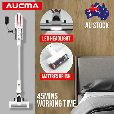 AUCMA Car Cordless Handheld Vacuum Cleaner Rechargeable Mattress Brush Cleaner