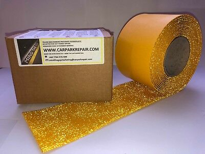 Yellow Thermoplastic Road Line Marking (50 mm yellow) 5 Metres SUPER REFLECTIVE