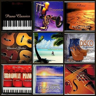 9 Assorted Mixed MUSIC CD'S, Relaxation, Easy Listening,Guitar,Piano, Violin,NEW