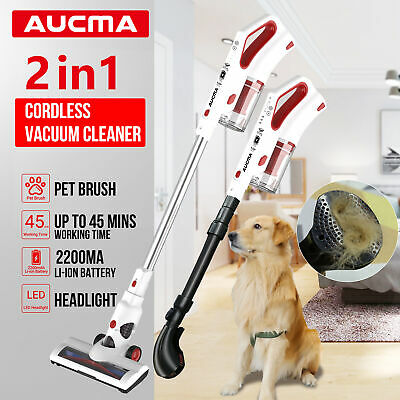 AUCMA Cordless Handheld Vacuum Cleaner Handstick Recharge Pet Hair Brush Cleaner