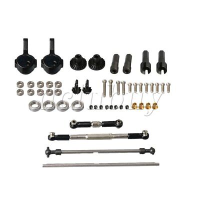 RC1:16 Steering Linkage Rod Front Rear Gear Set for WPL C14 C24 B14 Car
