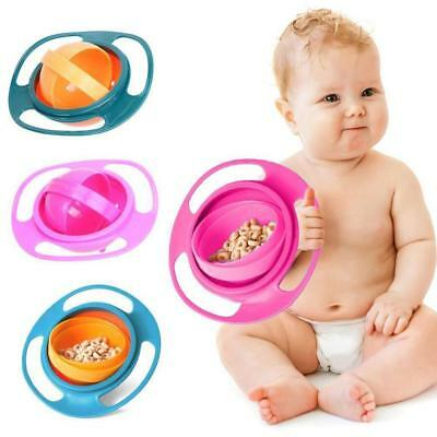 Baby Universal 360 Rotating Spill-Proof Gyro Bowl Feeding Dishes WT