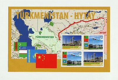 2010 Turkmenistan China GAS central Asia PIPELINE 4 stamps 1 List RARE