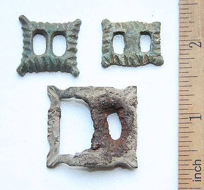 Group Of Ancient Old Bronze Buckles (AVG)