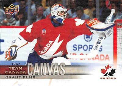 2017-18 Upper Deck Team Canada Canvas #TCC48 Grant Fuhr SP