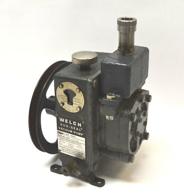 Welch 1400 Duo Seal Two-Stage Vacuum Pump Nice-Suction Drained-Oil