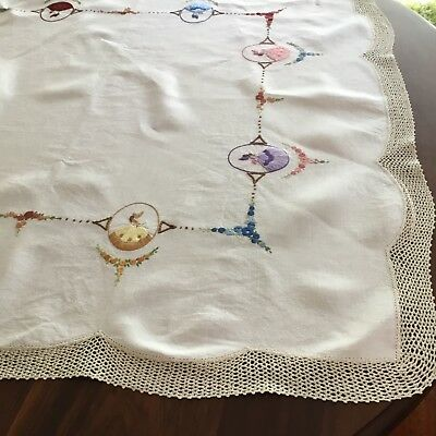 Crinoline lady linen table cloth supper