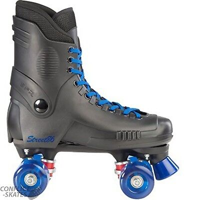 "SFR ""Street 86"" Quad Roller Skates 6UK or 7UK only BLACK / BLUE Rollerskates"