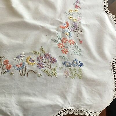 Vintage floral tablecloth/supper