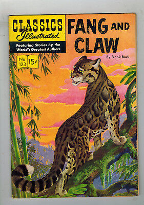 CLASSICS ILLUSTRATED No. 123 Fang and Claw - 15c - HRN 124 - first edition