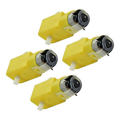 DIY 4 Pcs TT Geared Car Gear Motor Dual Shaft Gear for Arduino Car
