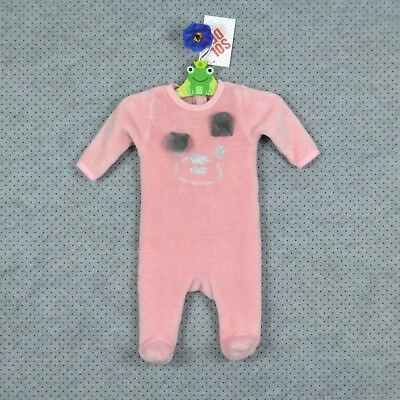 ffd5f4f91ae06 PYJAMA FILLE ~ MES PETITS CAILLOUX ~ polaire rose ~ 1 MOIS ~ NEUF ...