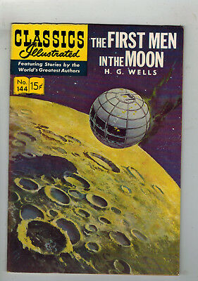 CLASSICS ILLUSTRATED No. 144 First Men in the Moon - 15c - HRN 143 - first ed