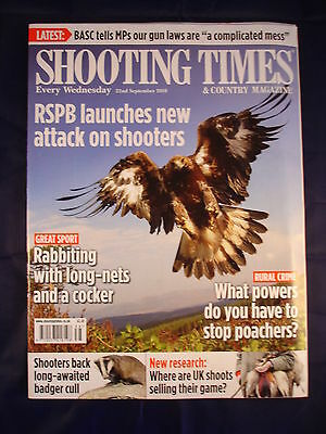 Shooting Times - 22nd September 2010 - Rabbit with long nets and a cocker