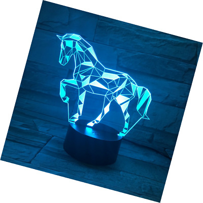 3D Illusion Lampe LED Nachtlicht EASEHOME Optische 3D-Illusions-Lampen Tis
