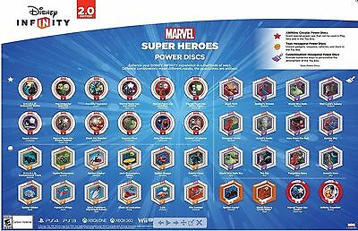 Disney Infinity 2.0 Marvel Power Discs Complete Your Set Lot Choose all you need