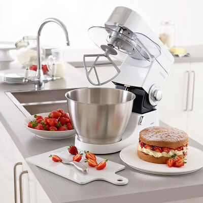 Chef Premier Planetary Mixing Pop Up Head Stand Mixer with 4.6L Bowl In White