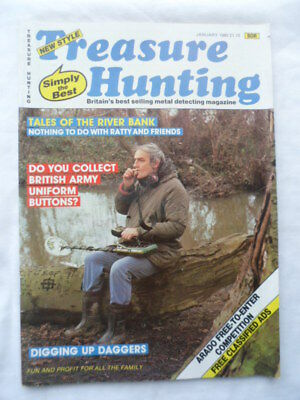 Treasure hunting Magazine - January 1985 - contents shown in photographs