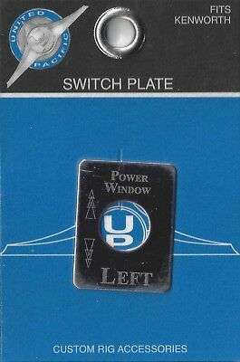 switch plate power window left stainless etch block letter for Kenworth toggle