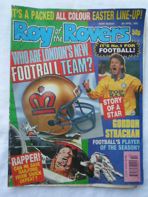 Roy of the Rovers football comic - 6 April 1991 - Birthday gift?
