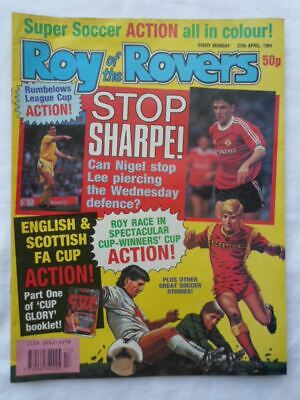 Roy of the Rovers football comic - 27 April 1991 - Birthday gift?