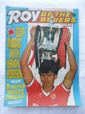 Roy of the Rovers football comic - 17 October 1987 - Birthday gift?