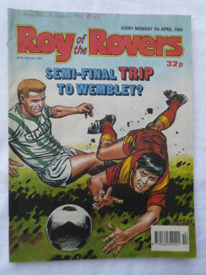 Roy of the Rovers football comic - 7 April 1990 - Birthday gift?