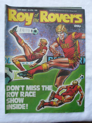 Roy of the Rovers football comic - 2 April 1988 - Birthday gift?