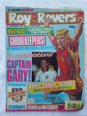 Roy of the Rovers football comic - 3 November 1990 - Birthday gift?