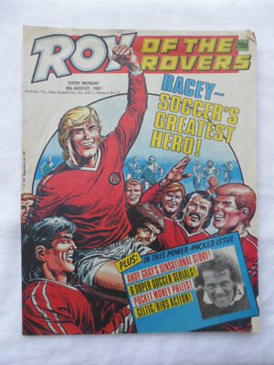 Roy of the Rovers football comic - 8 August 1987 - Birthday gift?