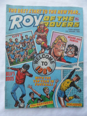 Roy of the Rovers football comic - 2 January 1988 - Birthday gift?
