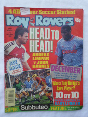 Roy of the Rovers football comic - 1 December 1990 - Birthday gift?