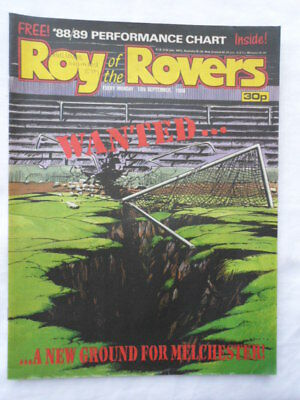 Roy of the Rovers football comic - 10 September 1988 - Birthday gift?