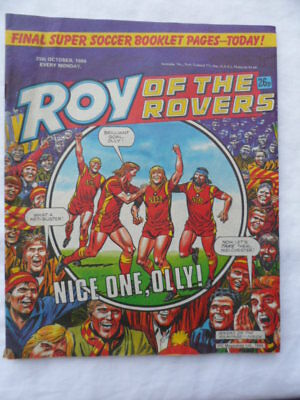 Roy of the Rovers football comic - 25 October 1986 -  Birthday gift?