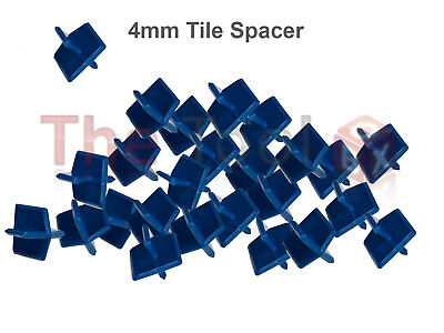 Tile Tracker 4mm Re-Usable Heavy Duty ABS Tile Spacers for Floor or Walls 50pk