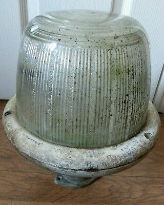 Vintage COUGHTRIE SW10 Light Lamp - glass dome  industrial. For restoration