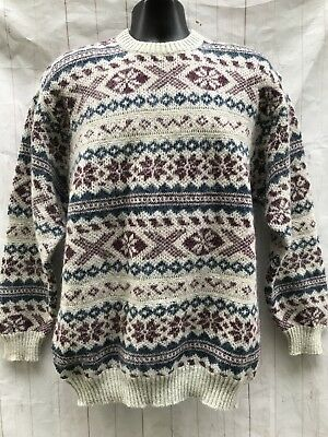 53029474b VINTAGE MEN S LARGE Fair Isle Sweater Vest with Tag -  25.99
