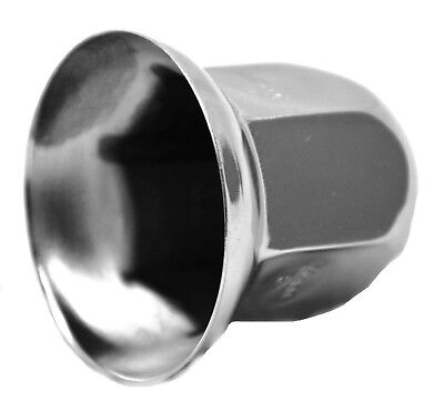 "lug nut covers(5) 33MM flange standard 2"" tall chrome for Freightliner Peterbilt"