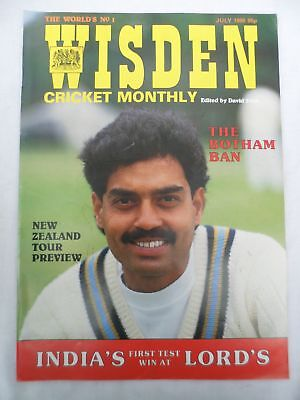 Wisden Cricket Monthly - July 1986 - Birthday gift for the cricketer