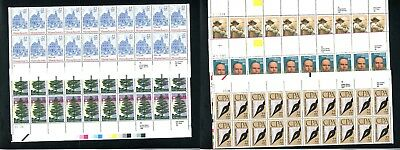 100 22¢ Stamps Five Plate Blocks of 20 Stamps Face $22 Selling For $17.60 (2)