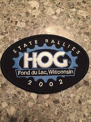 Harley Davidson HOG Patch STATE RALLIES Fond du Lac WI Harley Owners Group