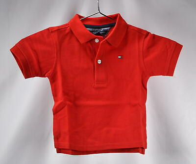 Baby Boy's Tommy Hilfiger Ivy Buttoned Polo Shirt, Regal Red
