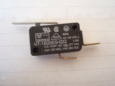 Honeywell Lever Microswitch V7-1B20E9-022 Basic Snap Action Spdt 4A 125 Vac T85