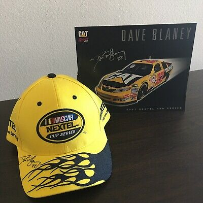 NASCAR 2007 Nextel Cup Series Dave Blaney 22 Signed Autograph Hat Cap Yellow NEW