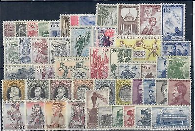 Czechoslovakia CSR,stamps complet year 1956**,MNH unused Without sheets